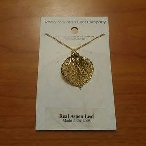"Jewelry - Aspen Leaf Necklace 18"" Chain (75)"